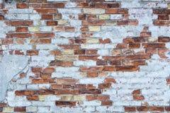 Bakstenen muurachtergrond, muurtextuur, uitstekende baksteen Royalty-vrije Stock Foto