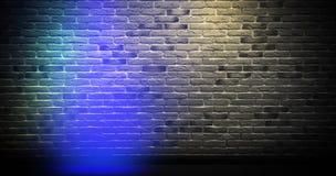 Bakstenen muurachtergrond, neonlicht stock afbeeldingen