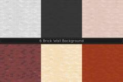 Bakstenen muurachtergrond Vector illustratie Stock Fotografie