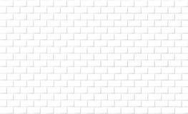 Bakstenen muurachtergrond in witte toon Stock Fotografie