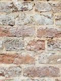 Bakstenen muurclose-up stock afbeelding