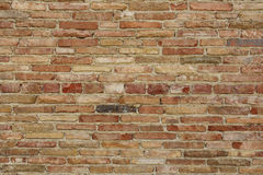 Bakstenen muurdetail Stock Foto's