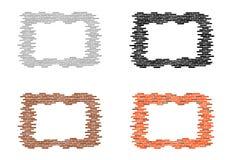 Bakstenen muurframes vector illustratie
