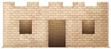 Bakstenen muurhuis vector illustratie