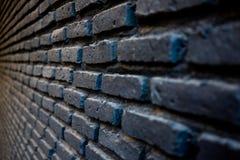 Bakstenen muurpatroon in zwarte kleur Stock Fotografie