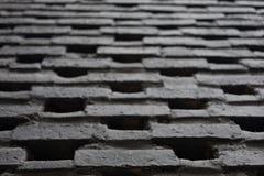 Bakstenen muurpatroon in zwarte kleur Royalty-vrije Stock Foto