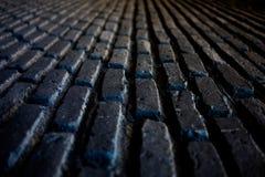 Bakstenen muurpatroon in zwarte kleur Royalty-vrije Stock Foto's