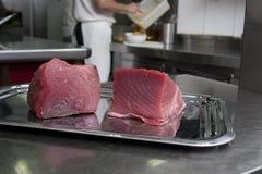 Bakstenen van vers tonijnvlees Stock Afbeelding