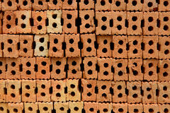 Bakstenen voor bouwconstructie worden gebruikt die Stock Fotografie