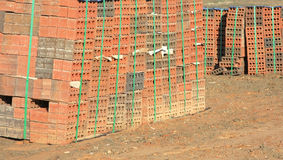 Bakstenen voor de bouw Royalty-vrije Stock Foto