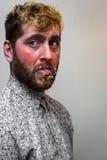 Bakterii Wirusowa twarz fotografia royalty free