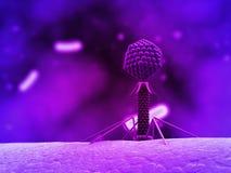 bakteriofag ilustracja wektor