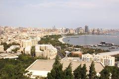 Baku är huvudstaden av Azerbajdzjan Arkivbild
