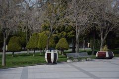 Baku ławka na nabrzeżu obrazy stock