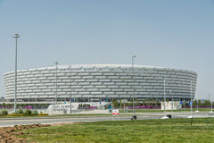 BAKU - 10 DE MAIO DE 2015: Baku Olympic Stadium em maio Foto de Stock
