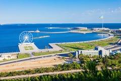 Baku aerial panoramic view Royalty Free Stock Images