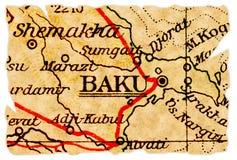 Baku-alte Karte Lizenzfreie Stockfotografie