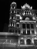 Baku, Aserbaidschan durch Nachtschwarzweiss-Ruhm Stockbilder