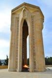 Baku, Azerbaijão - 20 de dezembro de 2014: Monumento aos heróis Fotografia de Stock Royalty Free