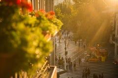 Baku, Azerbaijão, rua Center imagens de stock