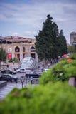 Baku, Azerbaijão, rua Center fotografia de stock