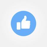 Baku, Azerbaijan - April 14, 2017: Facebook new like button. Stock Photography