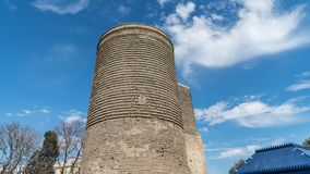 The Maiden Tower also known as Giz Galasi, located in the Old City in Baku, Azerbaijan. stock photography