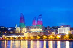 Baku Azerbaijan at Caspian sea- Royalty Free Stock Photos