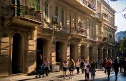 Baku, Azerbaijan, Center street. Stock Images