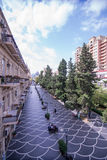 Baku, Azerbaijan, Center street. Royalty Free Stock Image