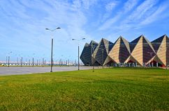 Baku Crystal Hall,on the boulevard of the Caspian Sea stock images
