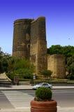 Baku, Azerbaijan, de Toren van het Meisje Stock Afbeelding