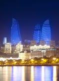 Baku Azerbaijan em sea- Cáspio Foto de Stock Royalty Free