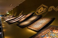 Baku Azerbaijan February 20, 2019: Azerbaijan carpet museum in Baku royalty free stock photos