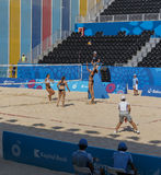 BAKU,AZERBAIJAN-THE FIRST EUROPEAN GAMES-JUNE 20,2015-BEACH VOLL Royalty Free Stock Image