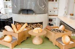 Baku, Azerbaijan-January 2016. Stylish bakery of restaurant in Four Seasons Hotel Stock Image