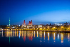 Baku Azerbaijan. Night photo of Baku Azerbaijan Royalty Free Stock Photography