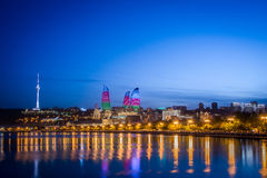 Baku Azerbaijan. Night photo of Baku Azerbaijan Stock Photo