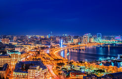 Baku, Azerbaijan. Night view of Baku, Azerbaijan Stock Photo