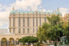BAKU, AZERBAIJAN - 17 OCT 2014: Four Seasons Hotel Baku. The Four Seasons Hotel Baku is close to Old Town and Shirvanshahs' Palace Royalty Free Stock Photos