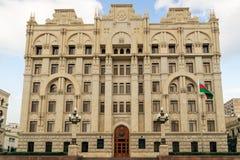 BAKU, AZERBAIJAN - OCTOBER 17, 2014:  Azerbaijan government ministry for internal affairs building in Baku Azerbaijan. Daxili Islar Nazirliyi H. Hajiyev st Stock Photo
