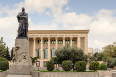 BAKU, AZERBAIJAN - 17 OCTOBER 2014: The Azerbaijan State Academic Drama Theatre Royalty Free Stock Photos