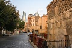 Baku Azerbaijan old town stock photo