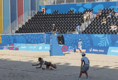 BAKU, AZERBAIJAN-THE PRIMER GAMES-JUNE EUROPEO 20,2015-BEACH VOLL Foto de archivo