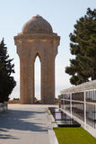 Baku,Azerbaijan,revolution memorial monument. Gravestones and memorial for victims of an uprise in Baku, capital of Azerbaijan Stock Image