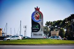 Baku Azerbaijan, summer Euroean olympic games 2015 Royalty Free Stock Image