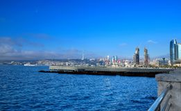 BAKU, Azerbaijan view of Baku Moon Royalty Free Stock Images