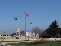 Baku Azerbajdzjan Gränd av martyr Royaltyfri Bild