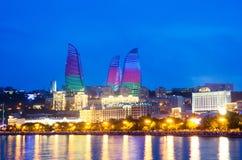Baku Azerbajdzjan på Caspian sea- Royaltyfria Foton