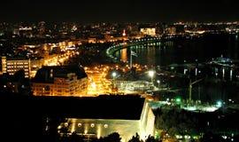 Baku, Azerbeidzjan bij Nacht Stock Foto